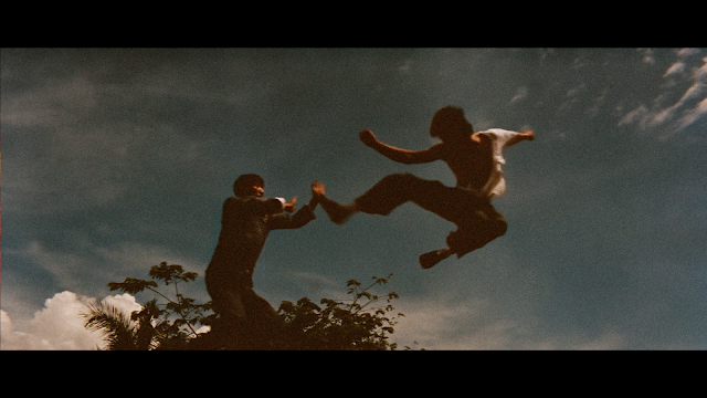man should know not to jump in front of Bruce Lee when he is doing a jump kick