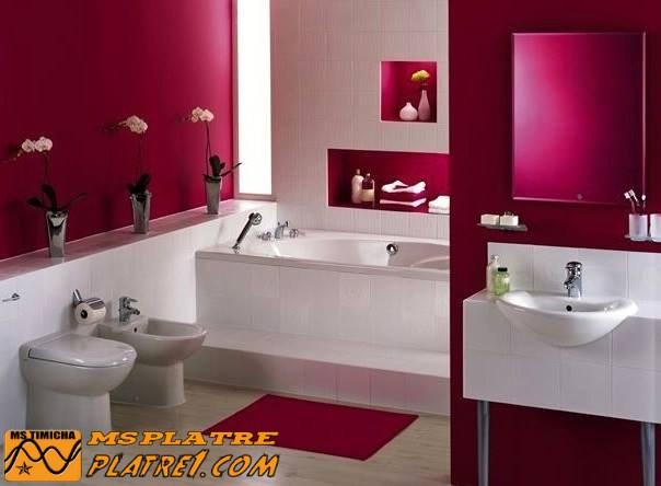 Décor de salle de bain  en plâtre