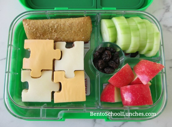 Puzzle themed lunch in Yumbox Panino