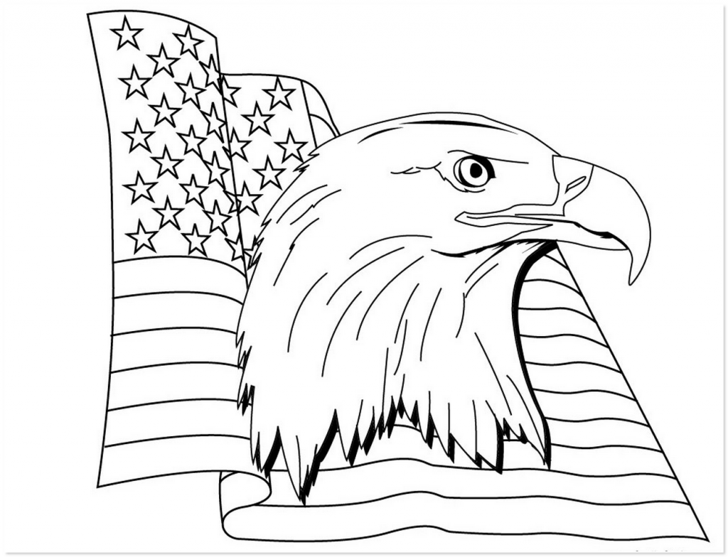 Get American Eagle Flag Coloring Pages Printable