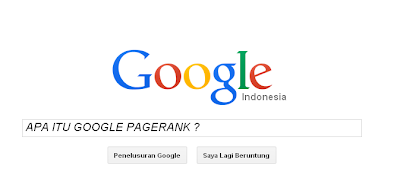 Apa itu Google Pagerank ?