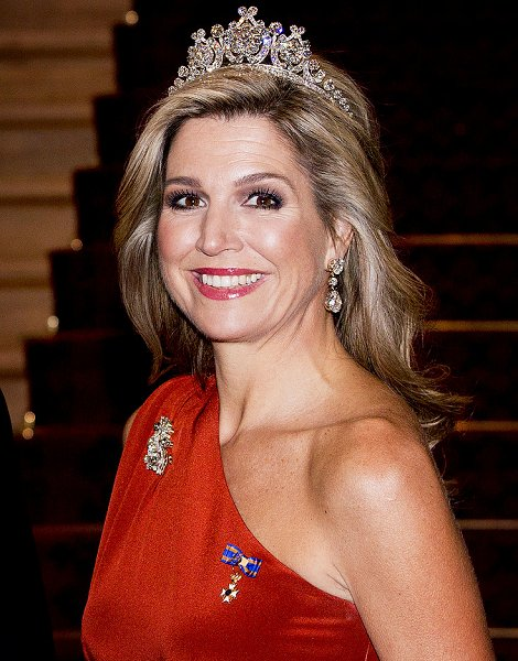 King Willem And Queen Maxima Attend A Dinner At Government