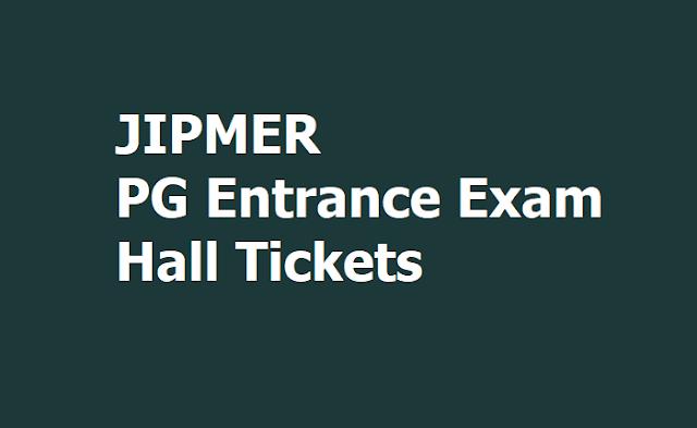 JIPMER PG Entrance Exam Hall tickets 2020