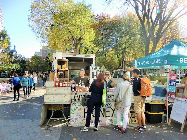 Green market - Union Square - New-York - honey