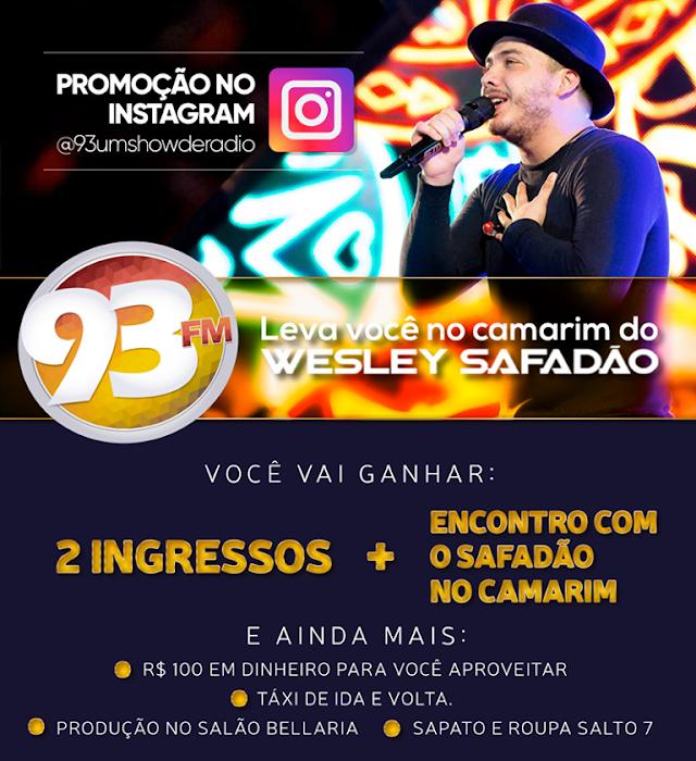 A 93 FM leva você no show e no camarim do Wesley Safadão em Mossoró
