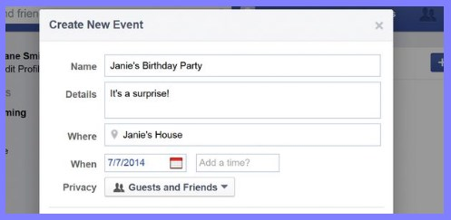 how do i create an event on facebook mobile