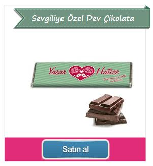 Sevgiliye Özel Ahşap Kutulu Dev Çikolata