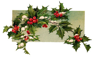 christmas holly digital download image printable crafting