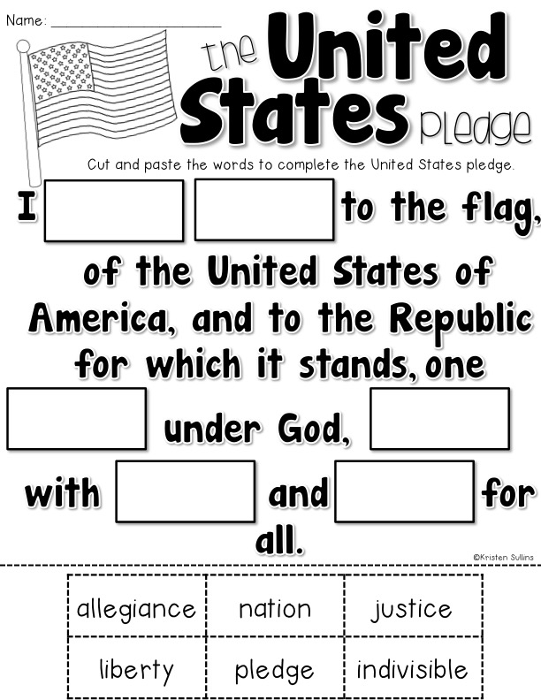 pledge of allegiance worksheets resultinfos. Black Bedroom Furniture Sets. Home Design Ideas