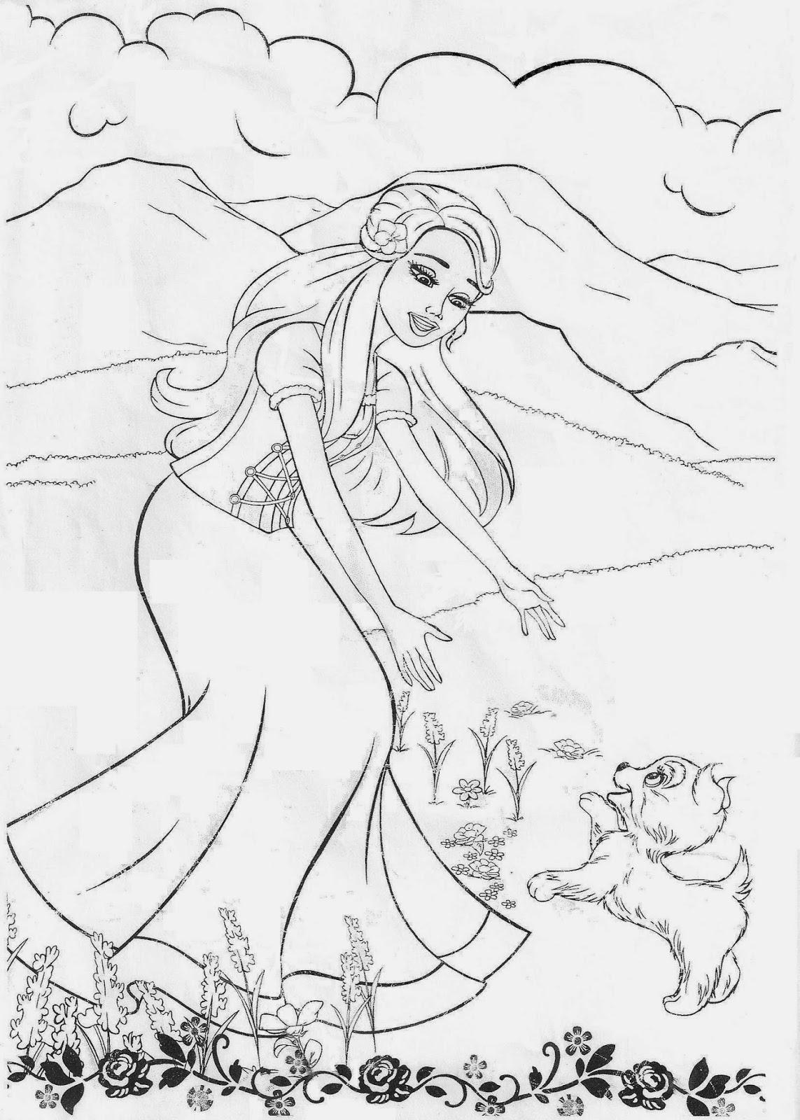 Barbie coloring pages images of bones ~ Desenhos Barbie de Colorir | Desenhos para colorir