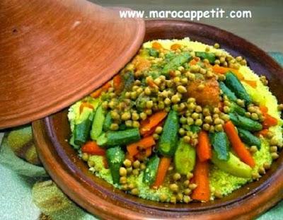Couscous aux sept légumes | Couscous with seven vegetables