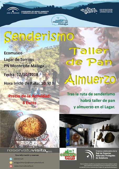 Senderismo, taller de pan y almuerzo en los Montes de Málaga