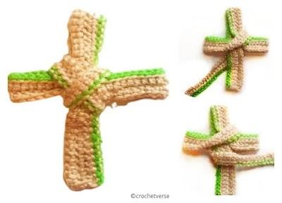 Cruz a crochet patrón para tejedores principiantes