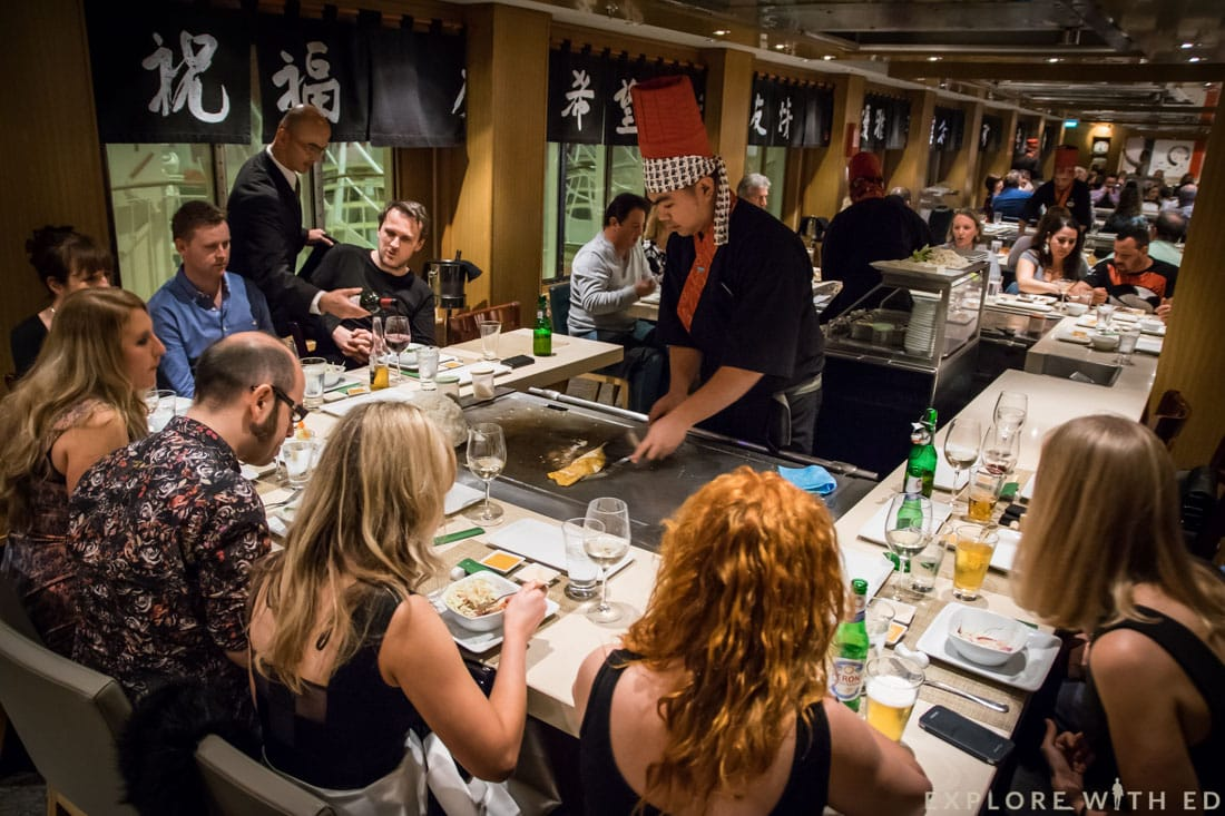 Teppanyaki restaurant, cruise ship, Norwegian Epic