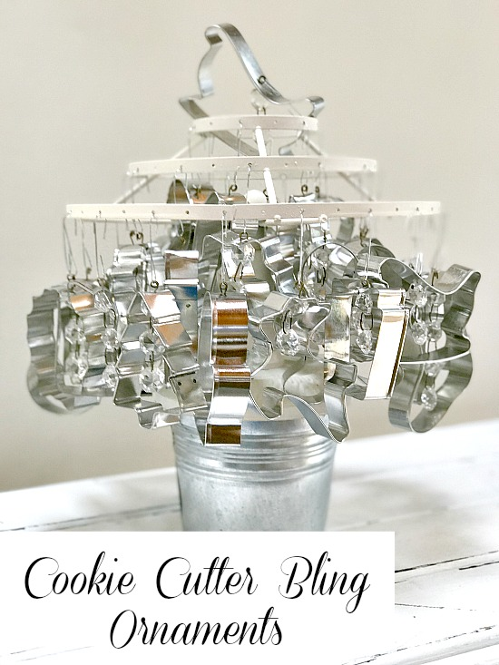 Cookie cutter ornament tree with bling