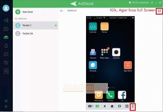 screen mirroring xiaomi dengan airdroid berhasil