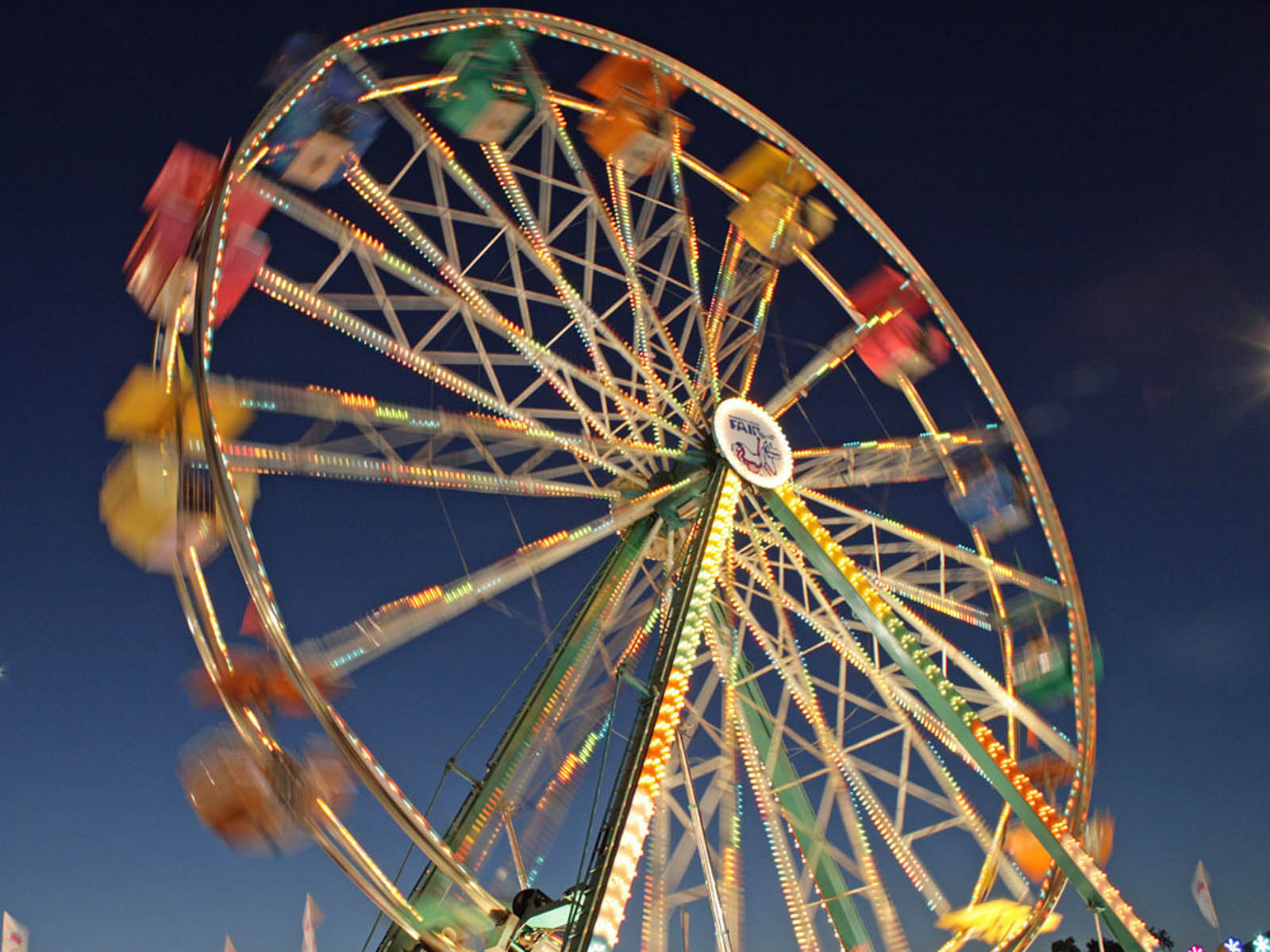 Morning 3d Wallpaper Wallpapers Ferris Wheel