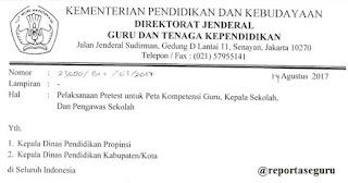 Surat Edaran Jadwal Pretest PKB Resmi Dirjen GTK Kemendikbud