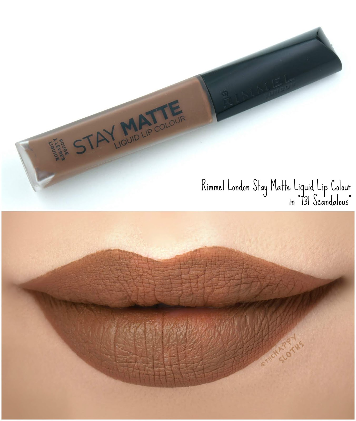 "Rimmel London | Stay Matte Liquid Lip Colour in ""731 Scandalous"": Review and Swatches"