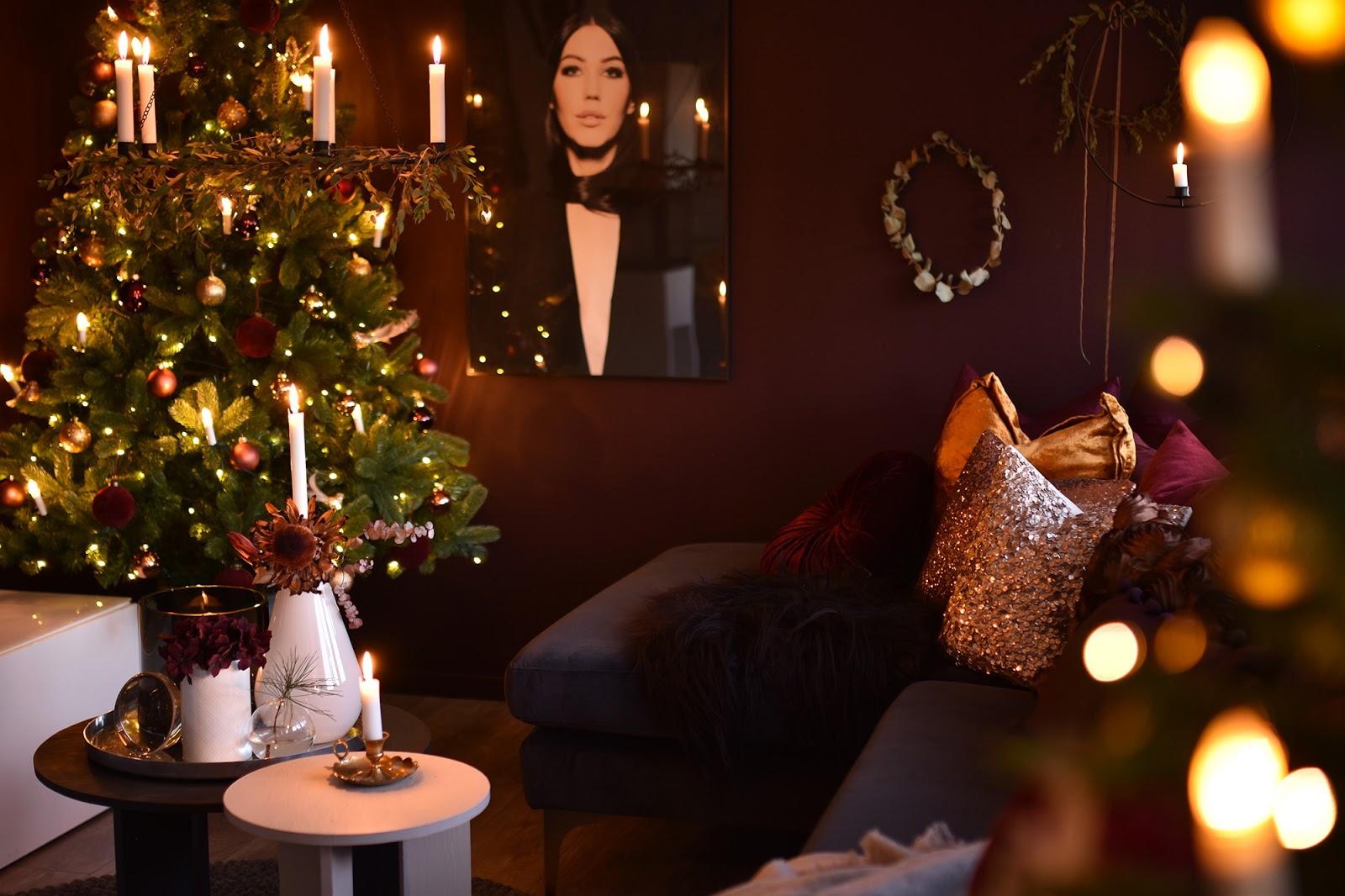 ambiente para decorar el salón para la cena de noche vieja fin de año fácil y lowcost