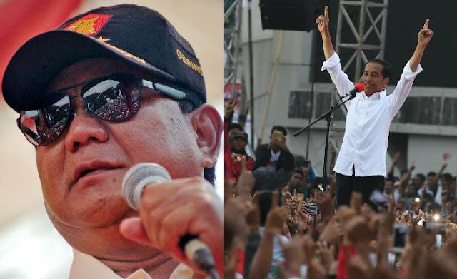 Survei Terbaru NCID, Prabowo Unggul 18,2 Persen Dari Jokowi