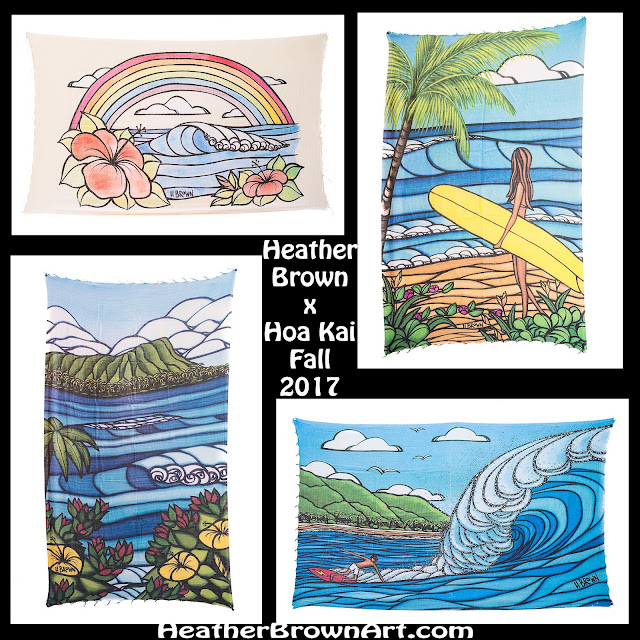 tropical art beach gear by heather brown surf art