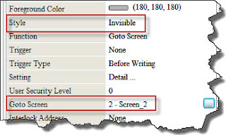 Invisible Button : Editing Property GoTo Screen
