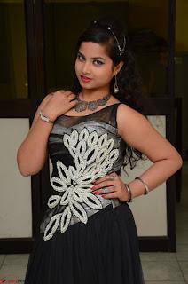 Shrisha Dasari in Sleeveless Short Black Dress At Follow Follow U Audio Launch 053.JPG
