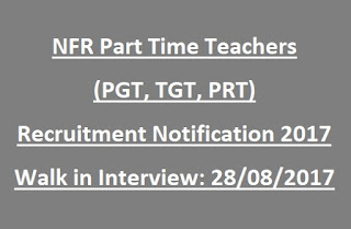 NFR Teachers Recruitment 2017