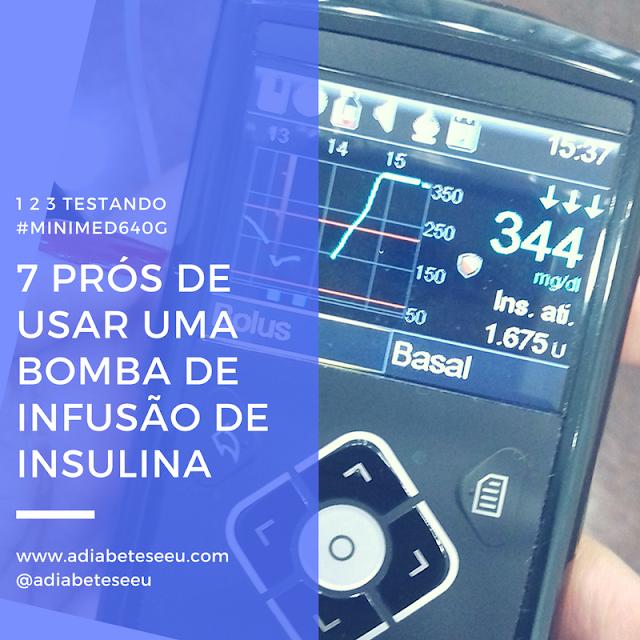 prós, a favor, bomba de insulina, sistema640G, minimed640G, sistema de infusão de insulina, diabetes
