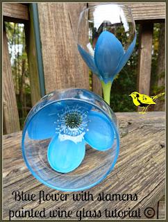 Flower Painted Wine Glasses