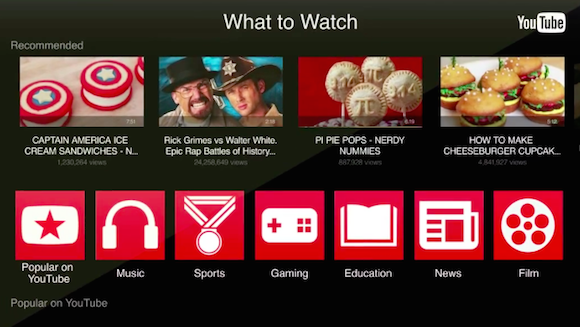 Google All Your: Updated YouTube App for Apple TV