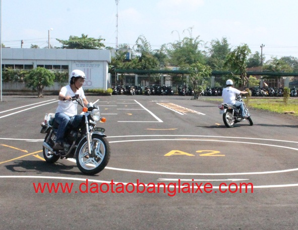 thi bằng lái xe mô tô hạng A2
