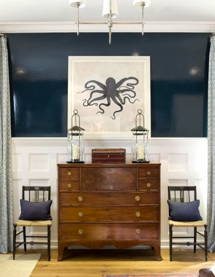 navy blue wall paint ideas