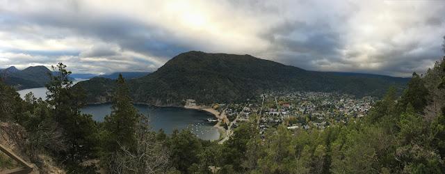 vista al lago lacar desde el mirador arrayan