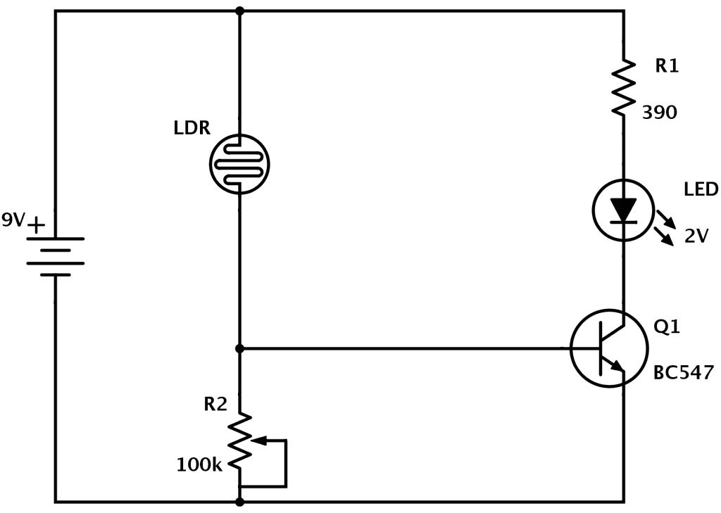 Circuito X : Las monedas de judas circuito que enciende un led cuando