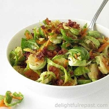 Brussels Sprouts Salad / www.delightfulrepast.com