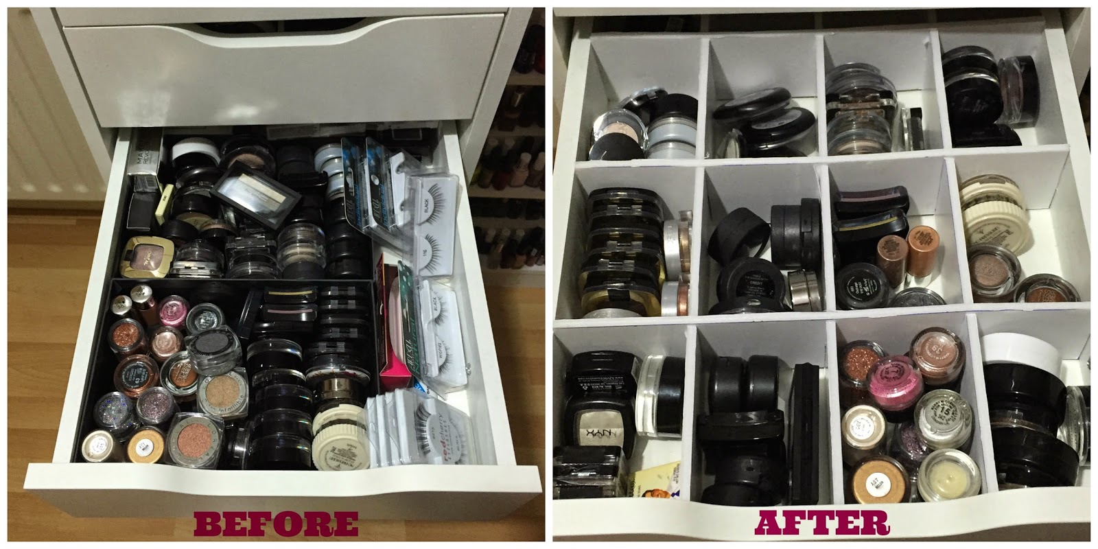 Makeup Storage Inspiration #1- Drawer Dividers (feat. Ikea Alex Unit)    TotalMakeUpAddict - Irish Beauty Blog