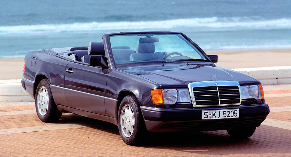 mercedes e class cabrio celebrates its 25th birthday. Black Bedroom Furniture Sets. Home Design Ideas