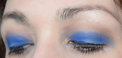 Bright blue makeup