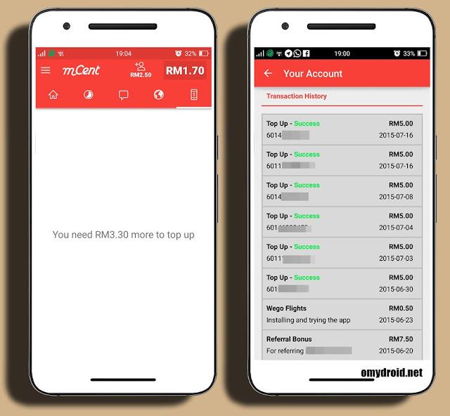 Cara Mendapatkan Topup Percuma (Android)'