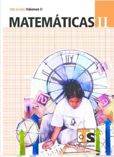 Libro de TelesecundariaMatemáticasIISegundo gradoVolumen IILibro para el Alumno2016-2017