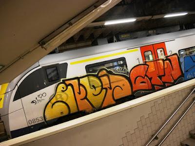 le train des cités nord de Bruxelles