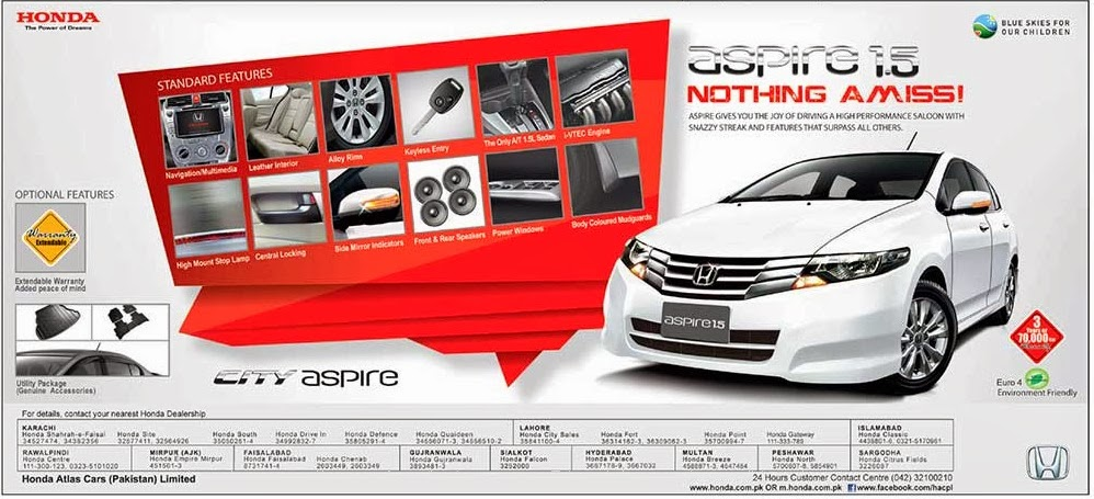 Honda 2014 City Aspire 1.5