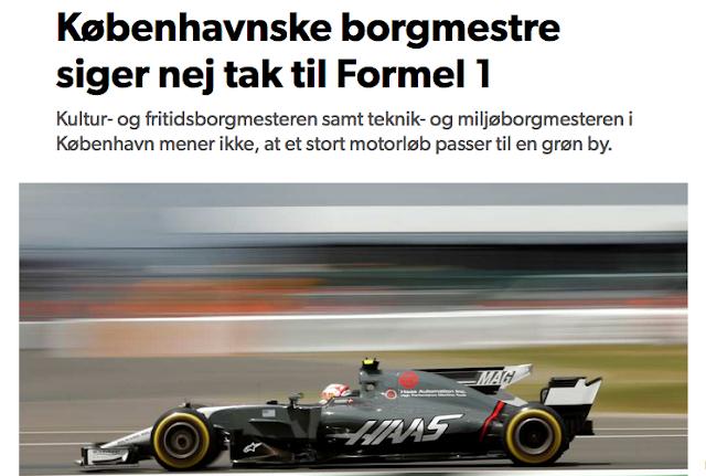 Om Formel 1 i København