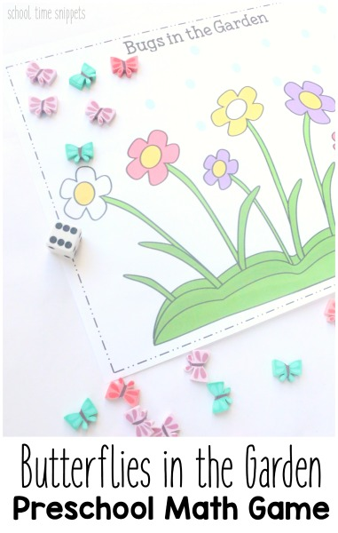 picture about Preschool Math Games Printable identified as Counting Butterflies Roll and Include Preschool Math Activity