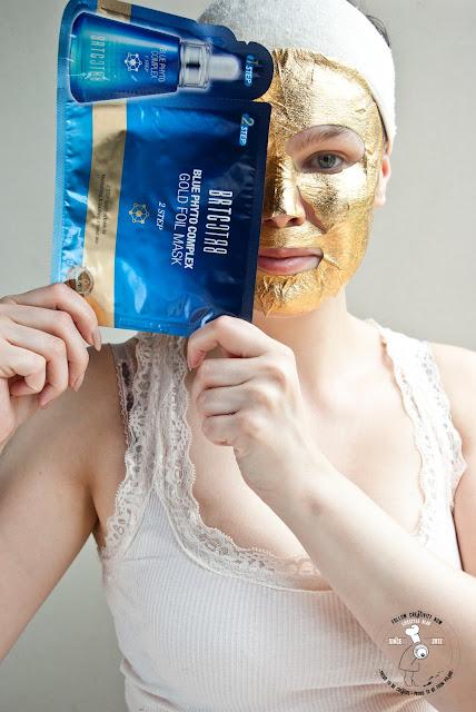 sheetmask korean golden mask złota maseczka koreańska z drobinami złota nawilżająca BRTC