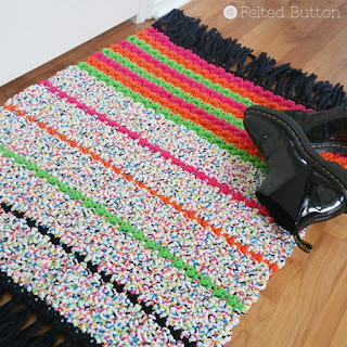All Sorts Rug Free Crochet Pattern by Susan Carlson of Felted Button