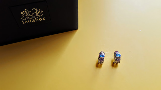 topaz blue crystal earrings