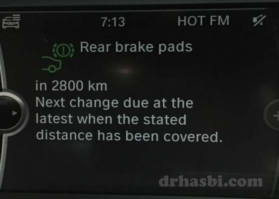 Sistem iDrive BMW yang canggih utk tukar brek belakang